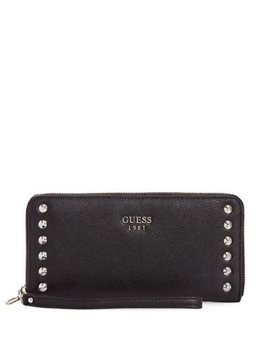 Guess Fynn Zip-Around Wallet-BLACK-One Size