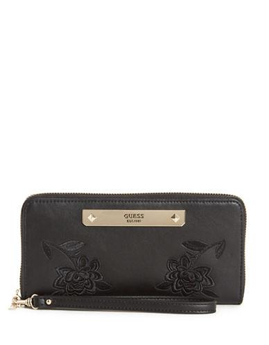 Guess Britta Zip-Around Wallet-BLACK-One Size