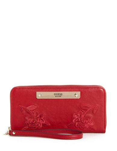 Guess Britta Zip-Around Wallet-RED-One Size