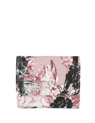 Guess Halley Floral Coin Purse-PINK-One Size