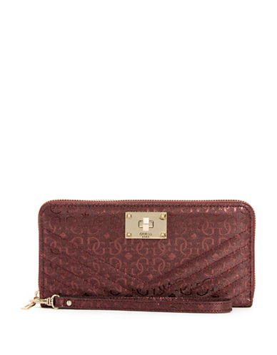 Guess Halley Continental Wallet-RED-One Size