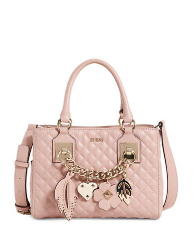 Guess Stassie Satchel-PINK-One Size