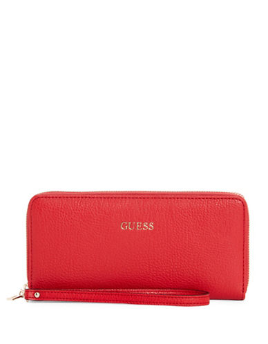 Guess Kinley Continental Wallet-RED-One Size