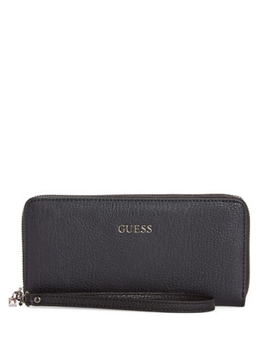 Guess Kinley Continental Wallet-BLACK-One Size