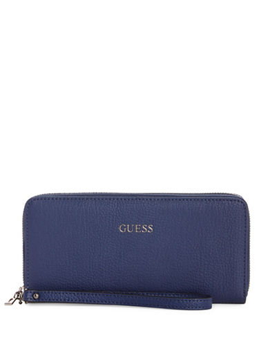 Guess Kinley Continental Wallet-NAVY-One Size
