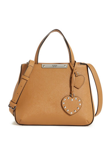 Guess Britta Small Satchel-TAN-One Size