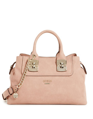 Guess Frankee Satchel Bag-PINK-One Size