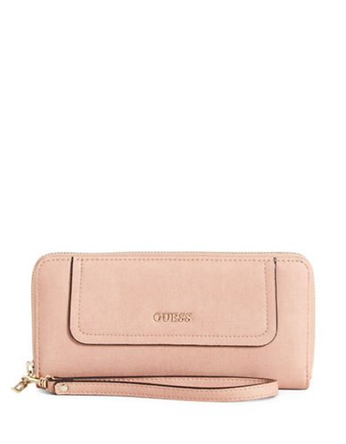 Guess Frankee Zip-Around Wallet-PINK-One Size