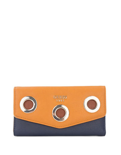 Guess Dinah Clutch-YELLOW-One Size