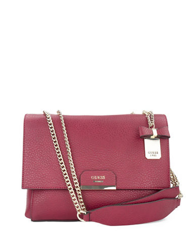 Guess Ryann Shoulder Bag-RED-One Size
