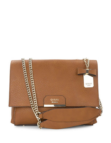 Guess Ryann Shoulder Bag-BROWN-One Size