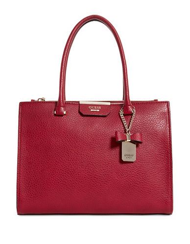 Guess Ryann Society Carryall Bag-RED-One Size