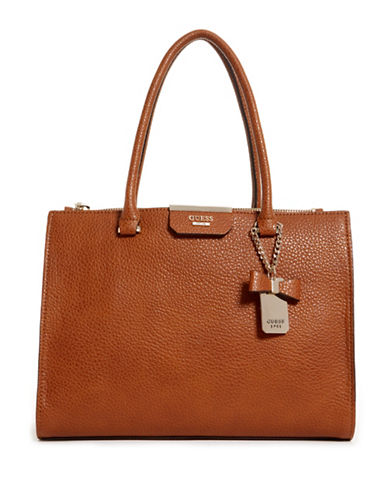 Guess Ryann Society Carryall Bag-BROWN-One Size