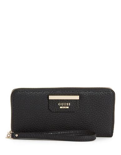 Guess Ryann Zip-Around Wallet-BLACK-One Size