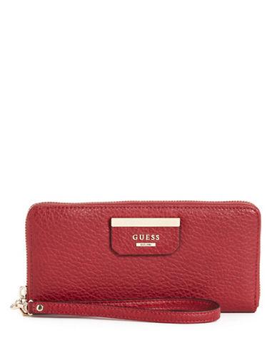 Guess Ryann Zip-Around Wallet-RED-One Size