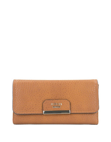 Guess Ryann Clutch-BROWN-One Size