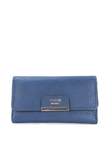 Guess Ryann Clutch-BLUE-One Size