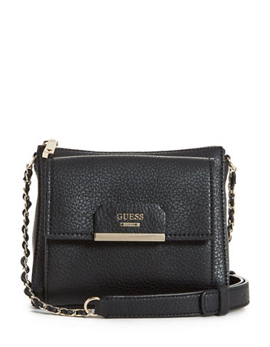Guess Ryann Mini Crossbody Bag-BLACK-One Size