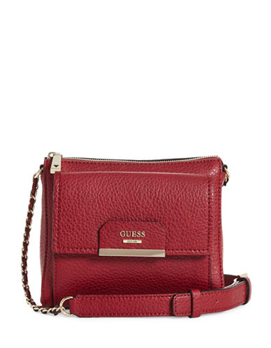 Guess Ryann Mini Crossbody Bag-RED-One Size