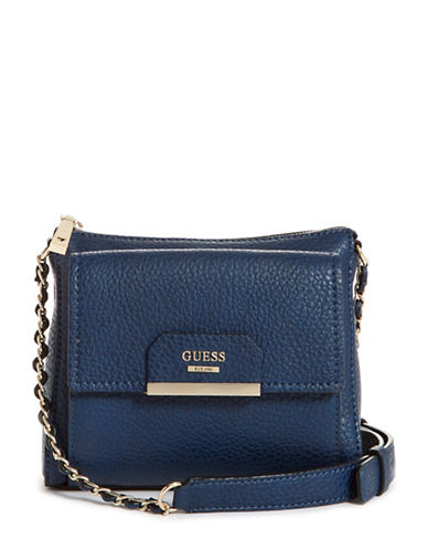 Guess Ryann Mini Crossbody Bag-BLUE-One Size