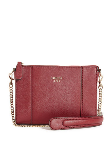 Guess Kamryn Mini Convertible Crossbody-RED-One Size