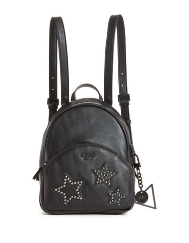 Guess Bradyn Small Backpack-BLACK-One Size