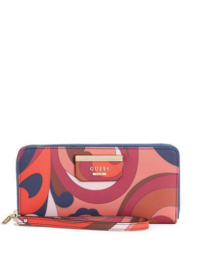 Guess Ryann Zip-Around Wallet-MULTI-One Size