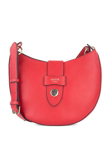 Guess Shane Crossbody Bag-RED-One Size
