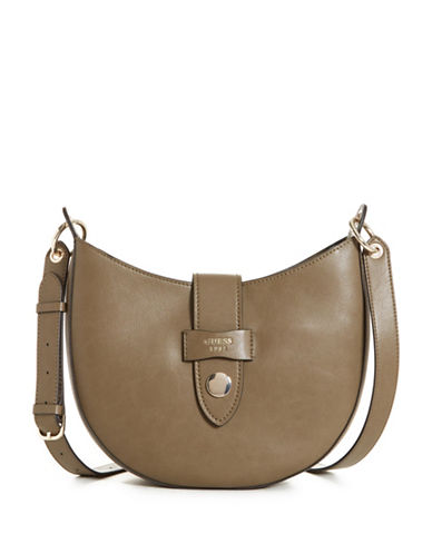 Guess Shane Crossbody Bag-GREEN-One Size