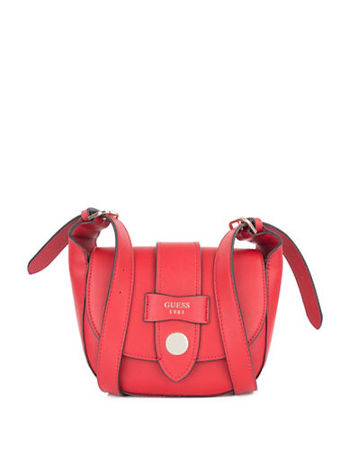 Guess Shane Mini Crossbody-RED-One Size