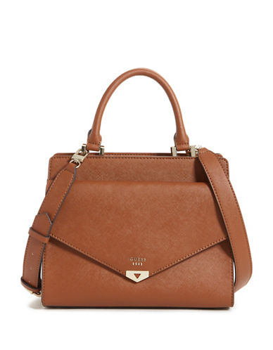 Guess Lottie Satchel-BROWN-One Size
