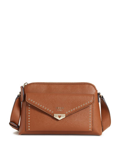 Guess Lottie Crossbody Bag-BROWN-One Size