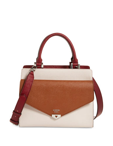 Guess Lottie Satchel-BEIGE-One Size