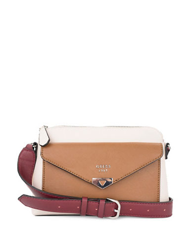 Guess Lottie Crossbody Bag-BEIGE-One Size