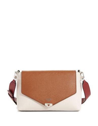 Guess Lottie Shoulder Bag-BEIGE-One Size