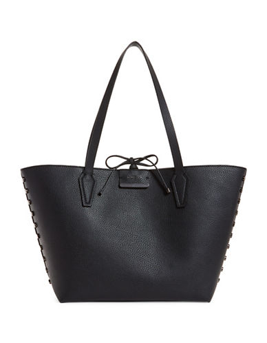 Guess Bobbi Inside Out Tote and Pouch-BLACK-One Size