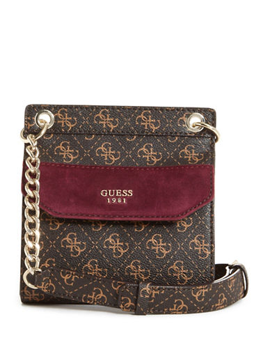 Guess Tepper Crossbody Bag-BROWN-One Size