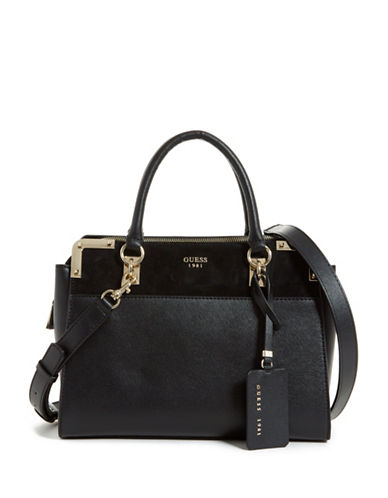Guess Tepper Satchel-BLACK-One Size