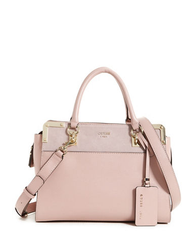 Guess Tepper Satchel-PINK-One Size