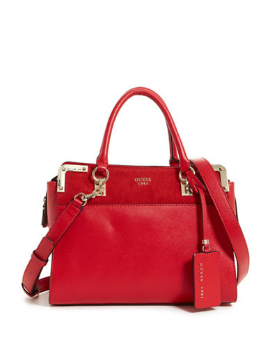 Guess Tepper Satchel-RED-One Size