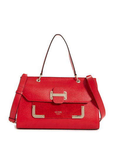 Guess Tepper Shoulder Bag-RED-One Size