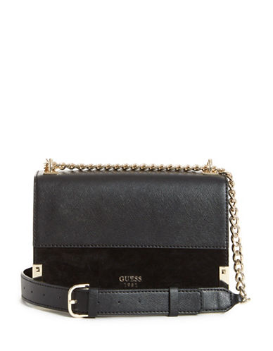 Guess Tepper Crossbody Bag-BLACK-One Size