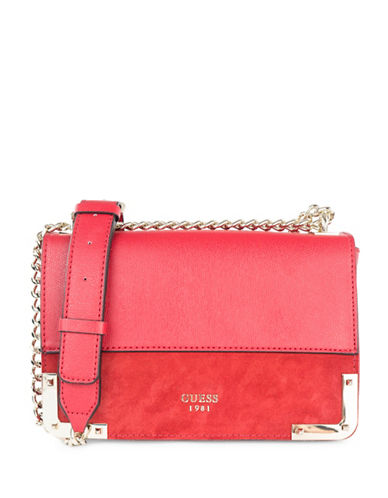 Guess Tepper Crossbody Bag-RED-One Size