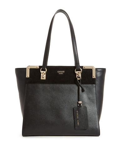 Guess Tepper Shopper Bag-BLACK-One Size