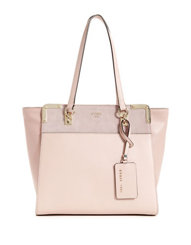 Guess Tepper Shopper Bag-PINK-One Size