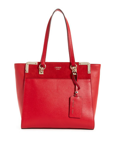 Guess Tepper Shopper Bag-RED-One Size
