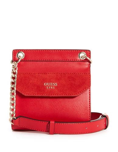 Guess Tepper Mini Crossbody Bag-RED-One Size