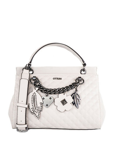 Guess Stassie Satchel-WHITE-One Size