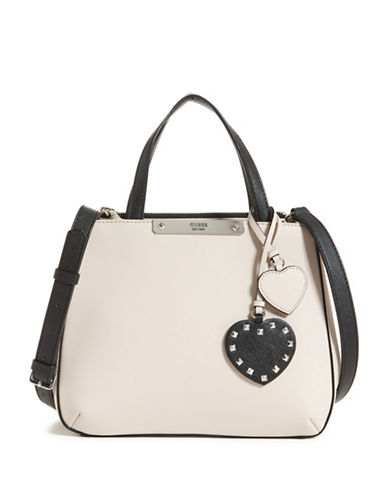 Guess Britta Small Satchel-BEIGE-One Size