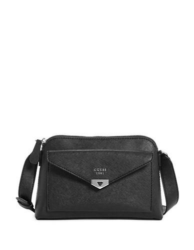 Guess Lottie Crossbody Bag-BLACK-One Size